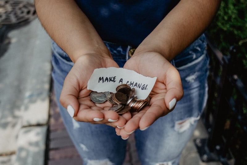 Charity donation wedding fund
